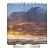 Colorado Evening Light Shower Curtain