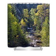 Colorado Left Hand Creek Boulder County Autumn View Shower Curtain