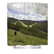 Colorado Mountain Freedom Shower Curtain