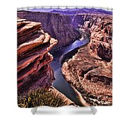 Colorado River At Horseshoe Bend Shower Curtain