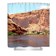 Colorado River Float Shower Curtain