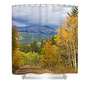 Colorado Rocky Mountain Autumn Scenic Drive Shower Curtain