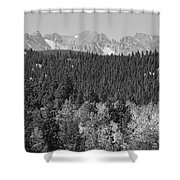 Colorado Rocky Mountain Continental Divide View Bw Shower Curtain