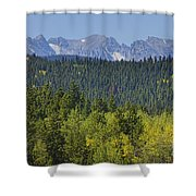 Colorado Rocky Mountain Continental Divide Autumn View Shower Curtain