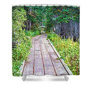 Colorado Rocky Mountain Forest Path Shower Curtain