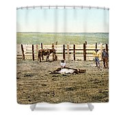 Colorado: Roping A Steer Shower Curtain