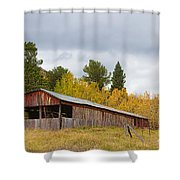 Colorado Rustic Autumn High Country Barn Shower Curtain