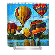 Colorado Springs Hot Air Balloons Shower Curtain by Nikki Marie Smith