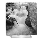 Colorado St Vrain River Trance Bw Shower Curtain