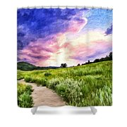Colorado Sunset Shower Curtain