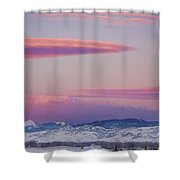 Colorado Winter Moon And Sunrise Shower Curtain