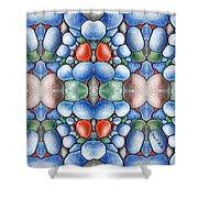 Colored Rocks Design Shower Curtain