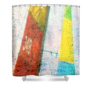 Colored Sailing Shower Curtain