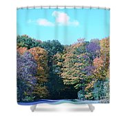 Colored Trees Shower Curtain