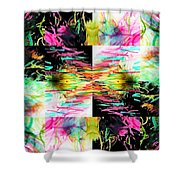 Colored Tubes Shower Curtain