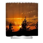 Colorfrul Sunset I Shower Curtain