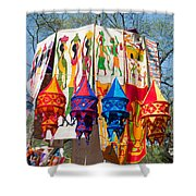 Colorful Banners At Surajkund Mela Shower Curtain