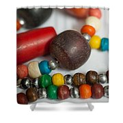 Colorful Beads In Chains Shower Curtain