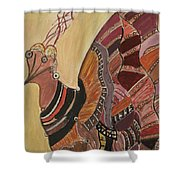 Colorful Bird Shower Curtain