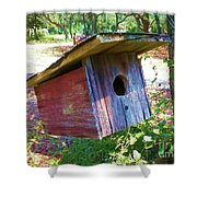 Colorful Birdie House Shower Curtain