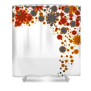 Colorful Blades Shower Curtain