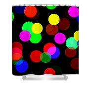 Colorful Bokeh Shower Curtain by Paul Ge