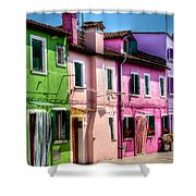 Colorful Burano Italy Shower Curtain