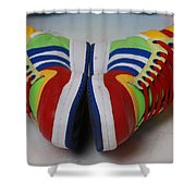Colorful Clown Shoes Shower Curtain