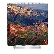 Colorful Colorado Rocky Mountains Planet Art Shower Curtain