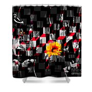 Colorful Cubed Beauty Shower Curtain