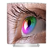 Colorful Eye Shower Curtain