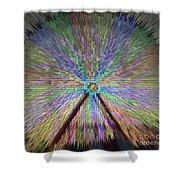 Colorful Fair Wheel Shower Curtain