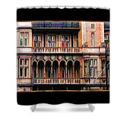 Colorful Fastasy British Building Shower Curtain