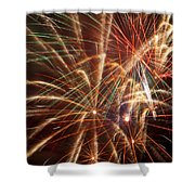 Colorful Fireworks Shower Curtain
