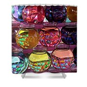 Colorful Fish Bowls Shower Curtain