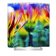 Colorful Flowers Together Shower Curtain
