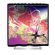 Colorful Frost Fractal 126 Shower Curtain