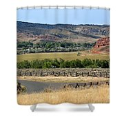 Colorful Hills Of Wyoming Shower Curtain