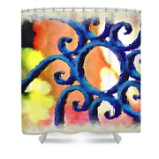 Colorful Ironwork Shower Curtain