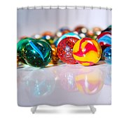 Colorful Marbles Shower Curtain by Carlos Caetano
