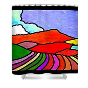 Colorful Massanutten Peak Two Shower Curtain