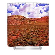 Colorful Mesas At Fossil Butte Nm Butte Shower Curtain