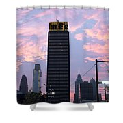 Colorful Morning Sky In Philly Shower Curtain