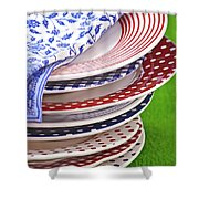 Colorful Plates Shower Curtain