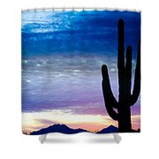 Colorful Southwest Desert Sunrise Shower Curtain