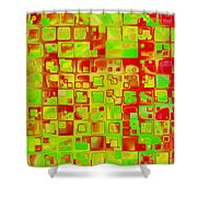 Colorful Squares II Shower Curtain