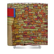 Colorful Stacked Stone Shower Curtain