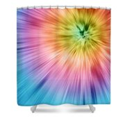 Colorful Starburst Tie Dye  Shower Curtain