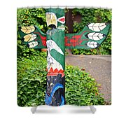 Colorful Totem Shower Curtain
