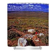 Colorful Valley From Fossil Lake Trail Shower Curtain